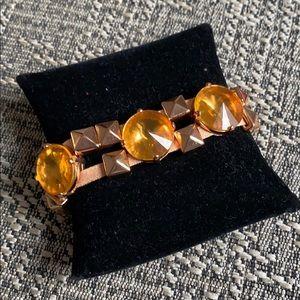 J Crew Rose Gold & Orange Bracelet